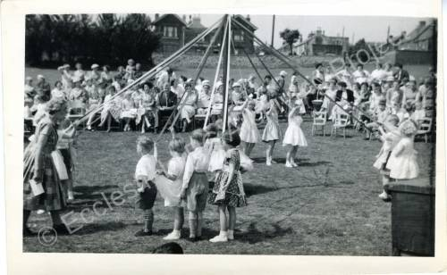 1960's Maypole Country Dancing In School Field (c)