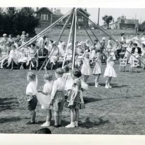 1960's Maypole Country Dancing In School Field (c)