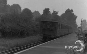 Trains at Merton Park Railway  Station