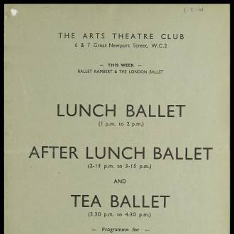 Arts Theatre Club, London, February 1941