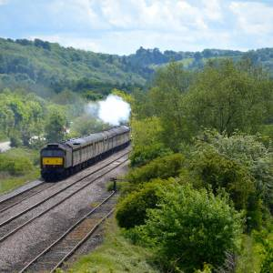 AM05 Flying Scotsman from A44 A49 bridge, Leominster, 19th May 2017.jpg