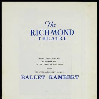 Richmond Theatre, London, January 1962
