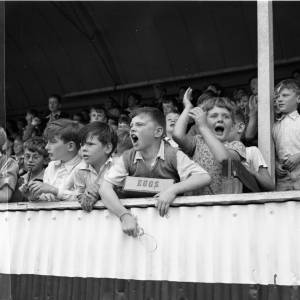 Children Cheer in the Stands in 1942