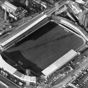 Aerial shot of Edgar Street, Hereford, 1950s.