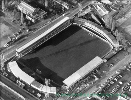 Aerial shot of Edgar Street, Hereford, 1950s.