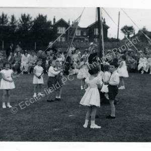 1960's Maypole Country Dancing In School Field (a)
