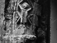 Part of a Norman arch discovered at Merton