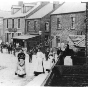 Ecclesfield Village, bottom of Grey Hill,Tankard Inn in the background.