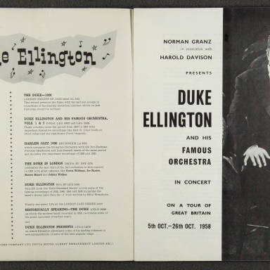 Duke Ellington Orchestra British Tour – October 1958 002