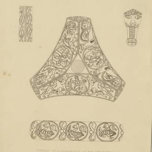 Candlestick design, Goodrich Court, 1835