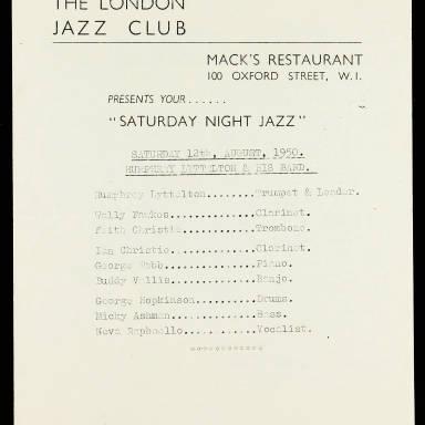 The London Jazz Club. Mack's Restaurant. 100 Oxford Street. Humphrey Lyttelton & His Band_0001.jpg