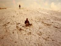Children sledging on Mitcham Common