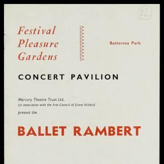 Concert Pavilion, Battersea Park, London, May–June 1954