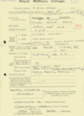 RMC Form 18A Personal Detail Sheets Feb & Sept 1933 Intake - page 261