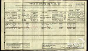1911 census - 11 Southpark Road Wimbledon