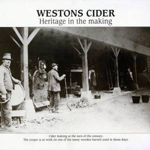 Westons cider making at the turn of the century - cooper making barrel