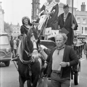 The Mayor of Hereford at the May Fair opening in 1975