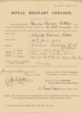 RMC Form 18A Personal Detail Sheets Jan 1915 Intake - page 88