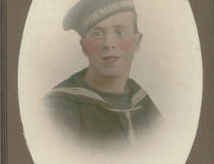 Portrait image of Able Seaman Benjamin Rigby of Leigh, 1893-1915