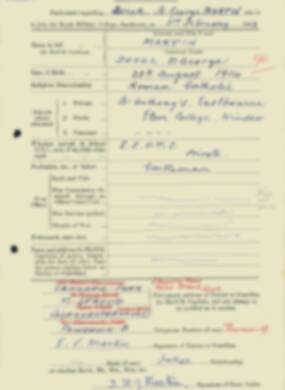 RMC Form 18A Personal Detail Sheets Feb & Sept 1933 Intake - page 89