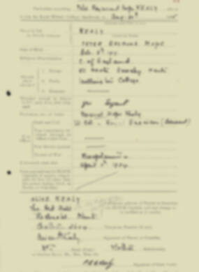 RMC Form 18A Personal Detail Sheets Aug 1935 Intake - page 119