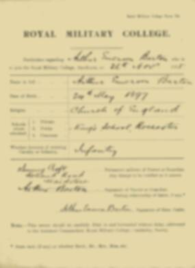 RMC Form 18A Personal Detail Sheets Nov 1915 Intake - page 6