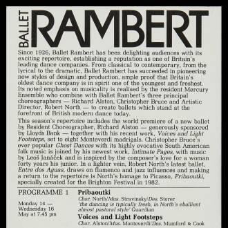 Theatre Royal, Brighton, May 1984