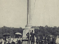 The inauguration of the Memorial cross, Kingston Vale