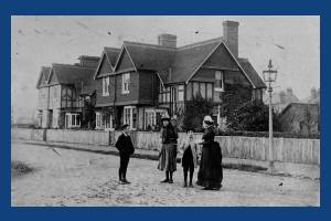 Kingswood Road, Wimbledon: Family group in the foreground