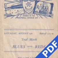 19480814 Official Programme Blues v Reds