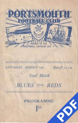 19480814 Official Programme Blues v Reds