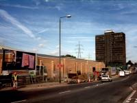 Christchurch Road:  Brown & Root Tower in distance, Colliers Wood