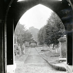 Church Porch, Woolhope, 1928