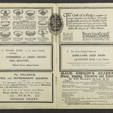 Original Dixieland Jazz Band, London Palladium. 1919 004