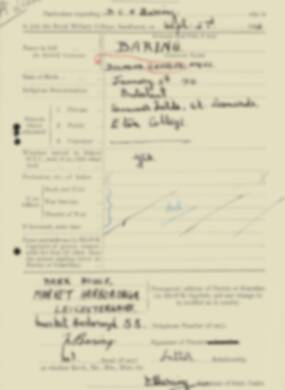 RMC Form 18A Personal Detail Sheets Feb & Sept 1933 Intake - page 9
