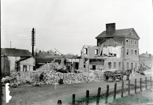 Demolition of Barton railway station, Hereford, 1913