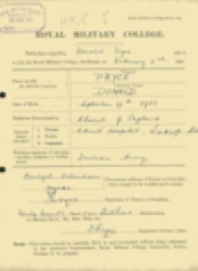 RMC Form 18A Personal Detail Sheets Feb & Sept 1922 Intake - page 115