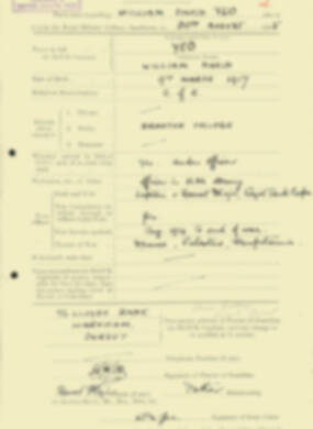 RMC Form 18A Personal Detail Sheets Aug 1935 Intake - page 226