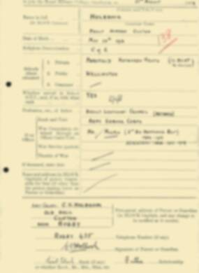 RMC Form 18A Personal Detail Sheets Aug 1934 Intake - page 109