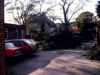 Morden Library: Storm Damage to Car Park