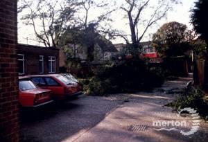 Morden Library: Storm Damage to Car Park