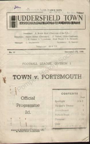 19481204 Huddersfield Town