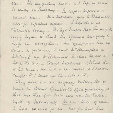Elsie Inglis to Amy Inglis Simson, May 1915 (Part 3)