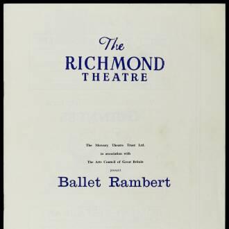 Richmond Theatre, London, February 1964