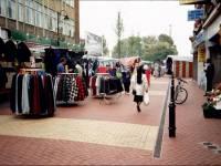 Fair Green, Mitcham: street market