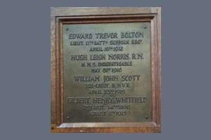 Memorial Plaque - Bolton, Norris, Scott & Whitfield