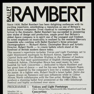 Theatre Royal, Bristol, June 1984