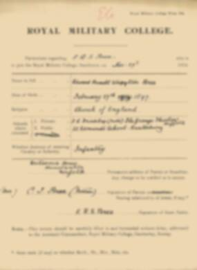 RMC Form 18A Personal Detail Sheets Jan 1915 Intake - page 46