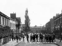 Gilbert Road, Wimbledon: children pictured in the street