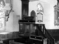 The pulpit inside Parish Church on London Road, Morden